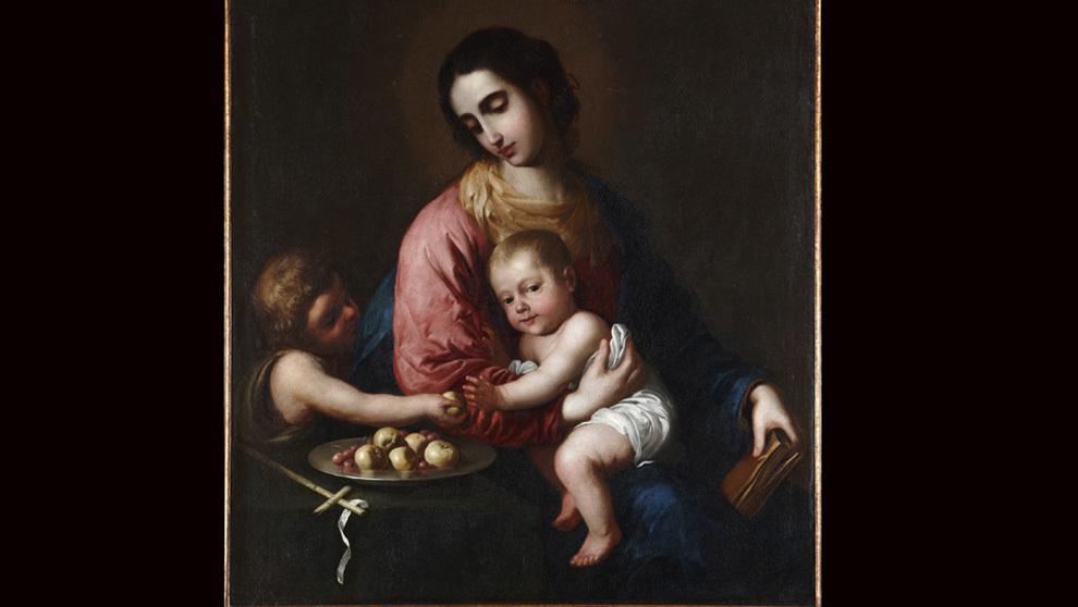 """""""La Virgen con el Niño Jesús y San Juan Bautista niño"""" de..."""