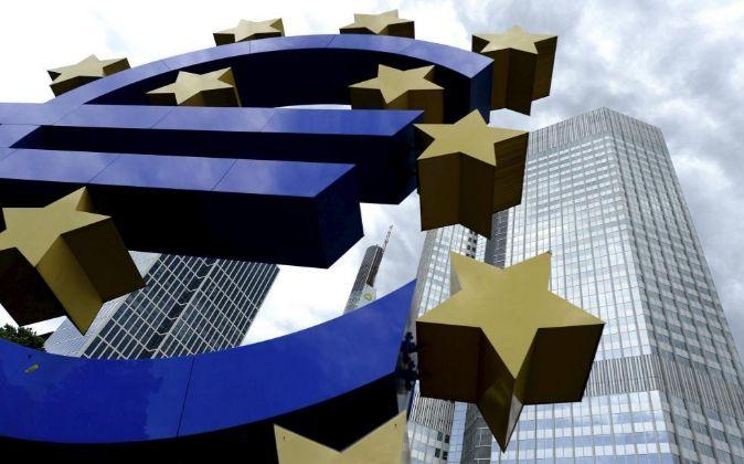 Imagen de la entrada del Banco Central Europeo en Fráncfort...