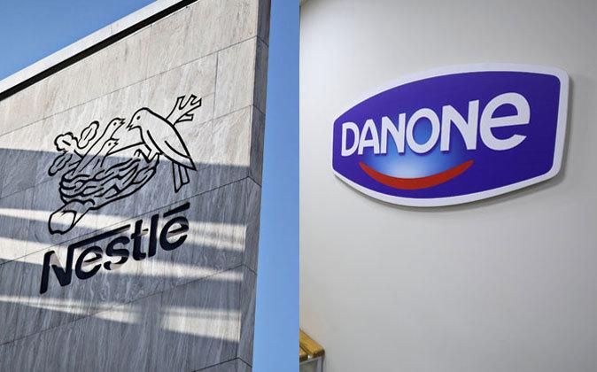 Logos de Nestlé y Danone.