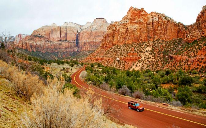 Vistas del Zion Canyon en Estados Unidos.