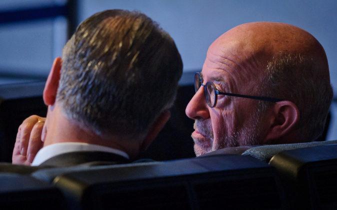 Emilio Saracho, presidente del Banco Popular, en una Junta...