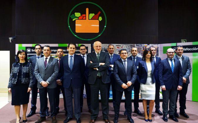 Juan Roig y miembros del Comité de Dirección de Mercadona.