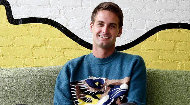 Evan Spiegel nació en Los Ángeles (California) y tiene 26 años.