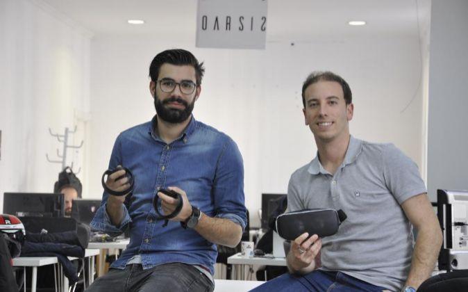 Mateo Moreno y Carlos López, fundadores de Oarsis, incubadora de...