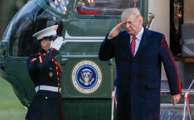 El presidente de EEUU, Donald Trump.
