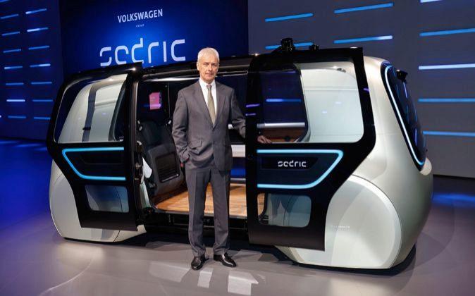 Matthias Müller, consejero delegado de Volkswagen Group, en la...