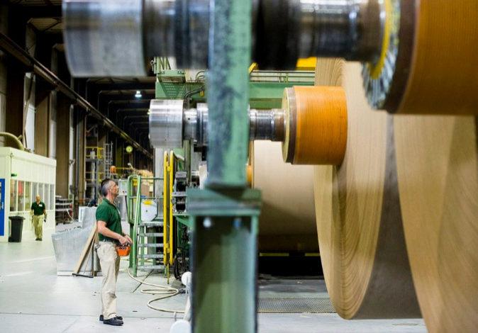 Una fábrica de papel, en una imagen de archivo.