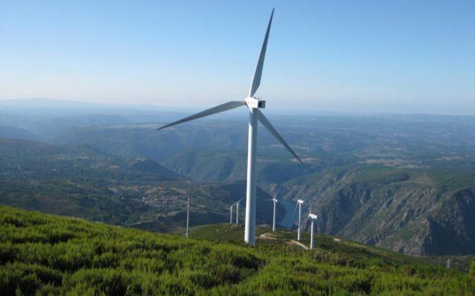 Parque eólico de Iberdrola en Sil (Orense)