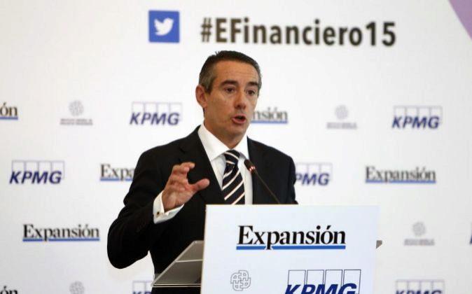 Juan Antonio Alcaraz, en un reciente encuentro financiero.