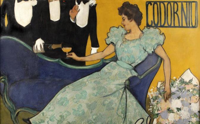 El cartel 'Ámbar y espuma'  de 1898.