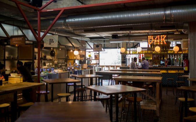 Interior del Mercado de San Ildefonso.