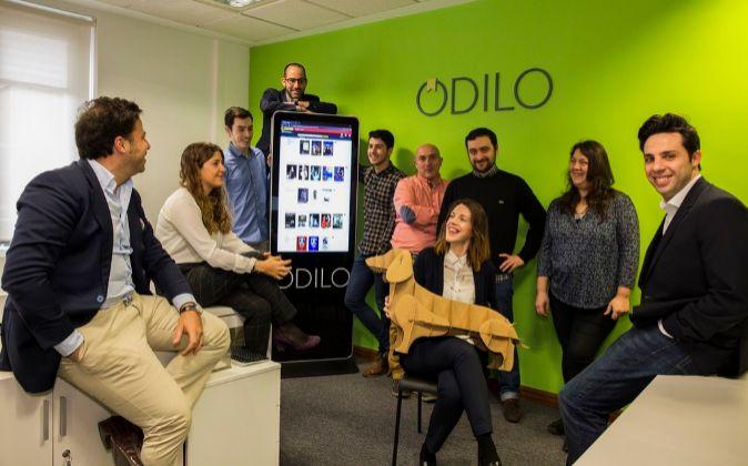 Equipo de Odilo, 'start up' de gestión de contenido...