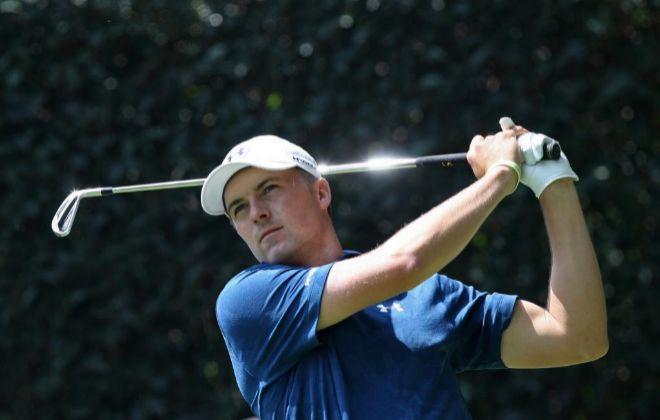 El golfista estadounidense Jordan Spieth en acción.
