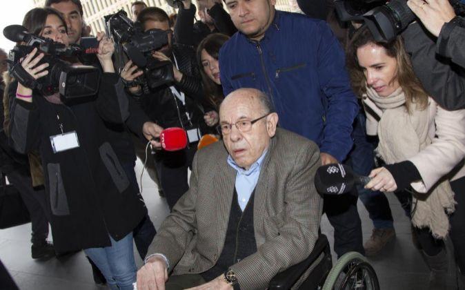 El expresidente del Palau de la Música Félix Millet, a su llegada a...