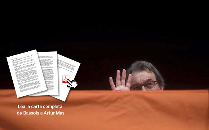 El expresidente de la Generalitat Artur Mas, ayer durante su...