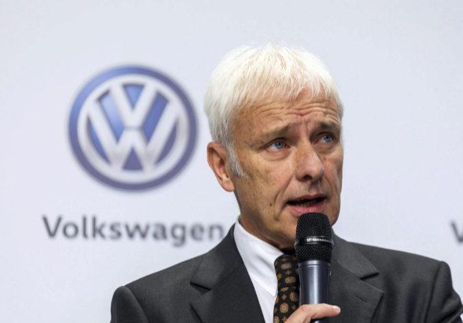 El consejero delegado de Volkswagen, Matthias Müller, en una imagen...