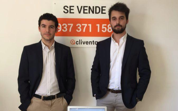 Ignacio González y Alejandro Briceño, fundadores de Cliventa.com.