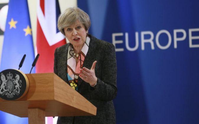 La primera ministra del Reino Unido Theresa May.