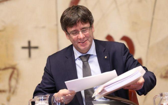 El presidente de la Generalitat Carles Puigdemont.