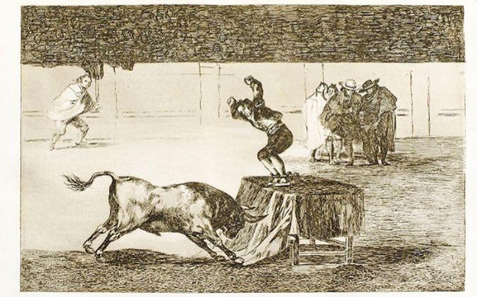 Grabado número 19 de 'La Tauromaquia' de Goya.