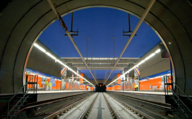 Foto de archivo de Metronorte (Madrid), construido por OHL.