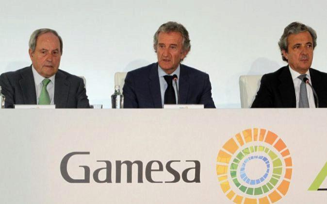 Foto de archivo de la Junta de accionistas de Gamesa.