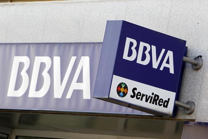 Sucursal bancaria de BBVA en Madrid.