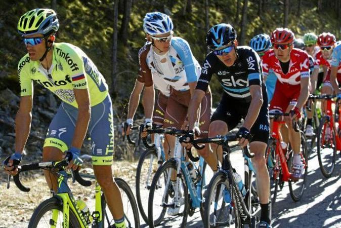 Alberto Contador (i) y Chris Froome (d) en la Volta a Catalunya de...