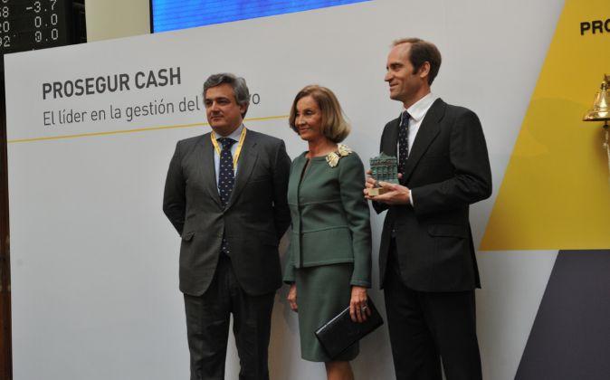 José Antonio Lasanta (a la izquierda), consejero delegado de Prosegur...