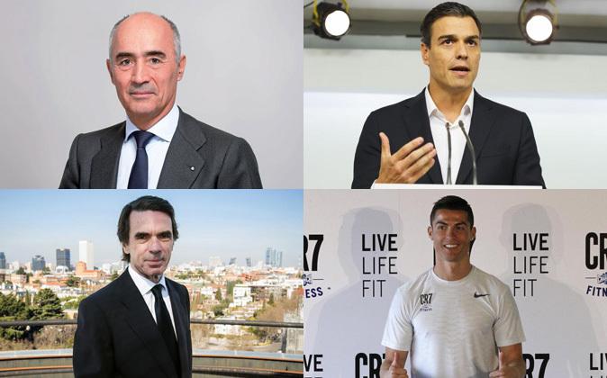 Rafael del Pino, Pedro Sánchez, José María Aznar y Cristiano...