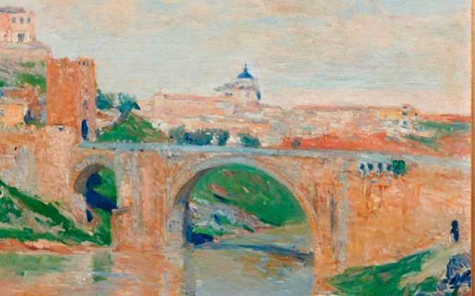 Aureliano de Beruete: 'Puente de Alcántara, Toledo' (1906)....