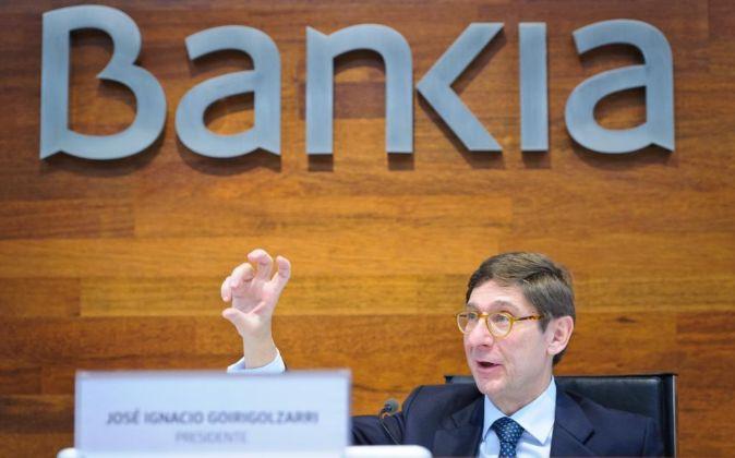 José Ignacio Goirigolzarri , presidente de Bankia.