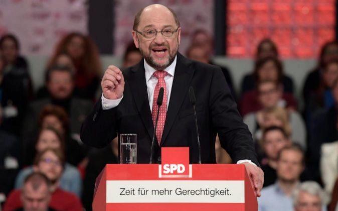 Martin Schulz, nuevo presidente del Partido Socialdemócrata Alemán...