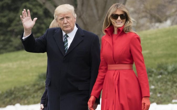 El presidente estadounidense Donald J. Trump y su esposa Melania.