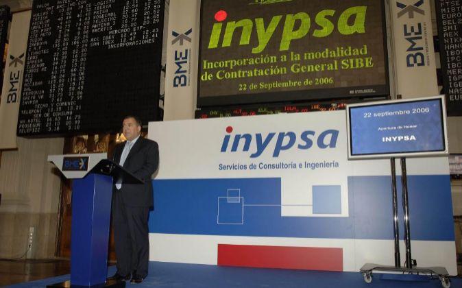 Foto de archivo de la salida a Bolsa de Inypsa en 2006.