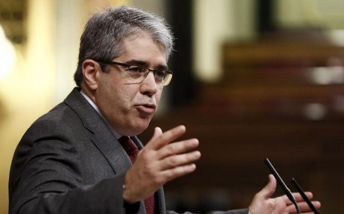 El diputado de PDeCAT Francesc Homs, durante su intervención en el...