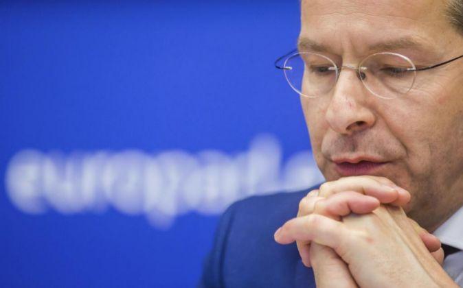 El ministro holandés de Finanzas y presidente del Eurogrupo, Jeroen...