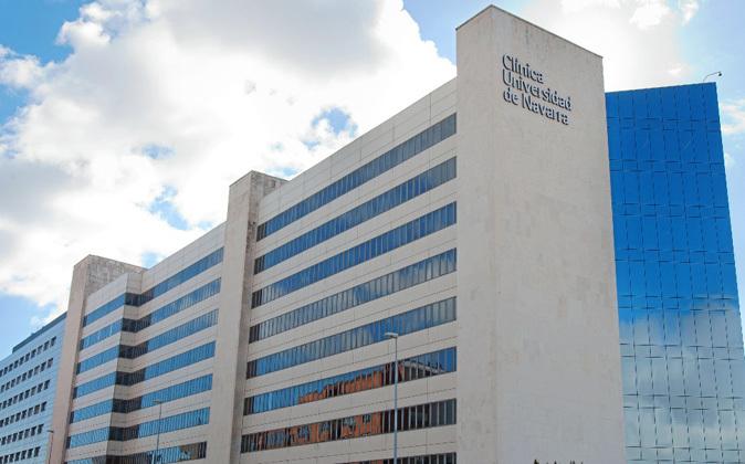 Edificio de la Clínica Universidad de Navarra en Pamplona.
