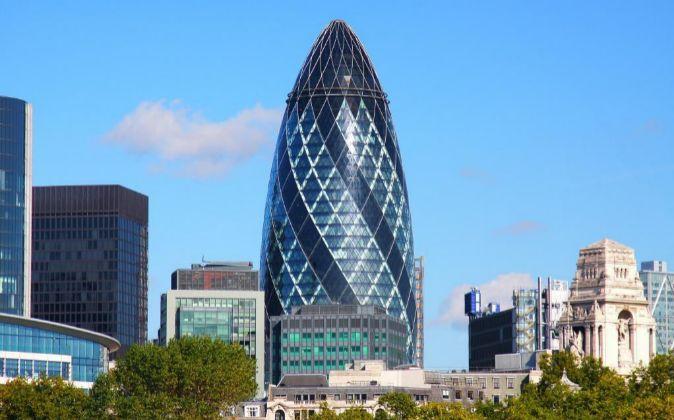 Torre Gherkin, en la City de Londres.