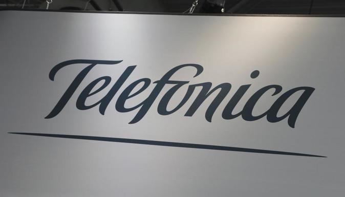 Logotipo de las compañía Telefónica.