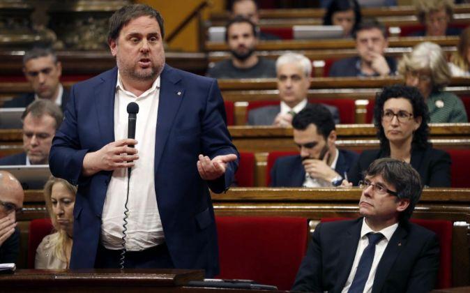 El vicepresidente de la Generalitat y conseller de Economía, Oriol...