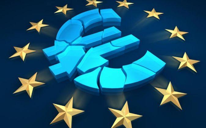 Logo de la zona euro.