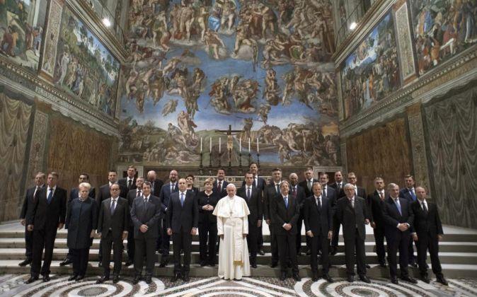 Fotografía facilitada por L'Osservatore Romano de la audiencia...