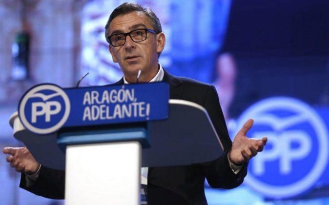 El nuevo presidente del PP de Aragón Luis María Beamonte.