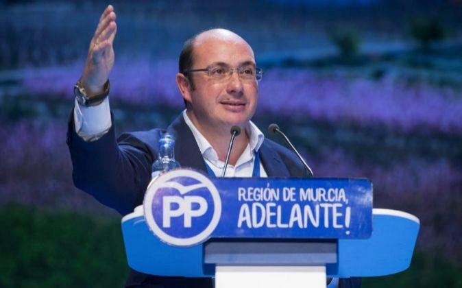 El nuevo presidente del Partido Popular en la Región de Murcia Pedro...