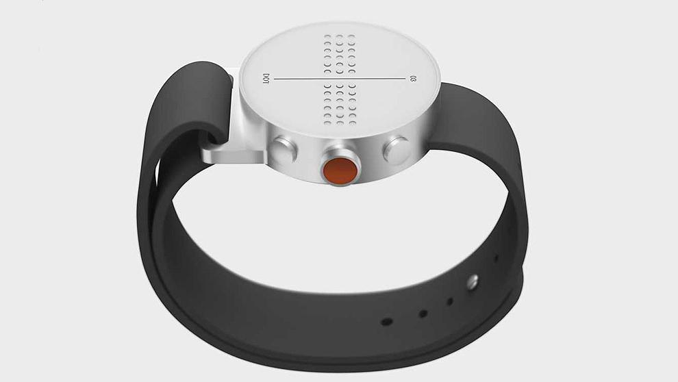 Dot es un 'reloj inteligente' que permite leer en braille...