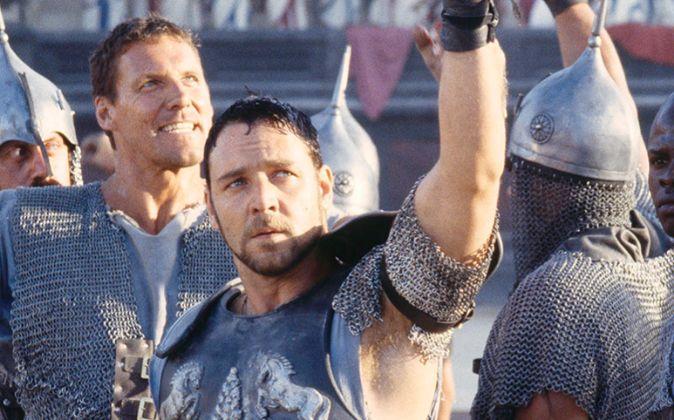 'Gladiator', protagonizada por Russell Crowe y dirigida por...