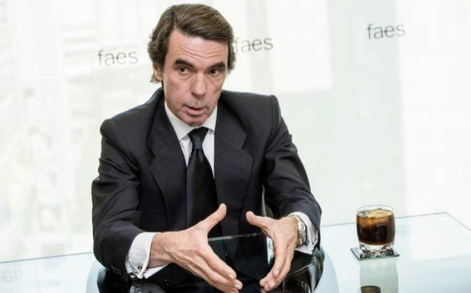 José María Aznar, expresidente del Gobierno y de Faes durante su...