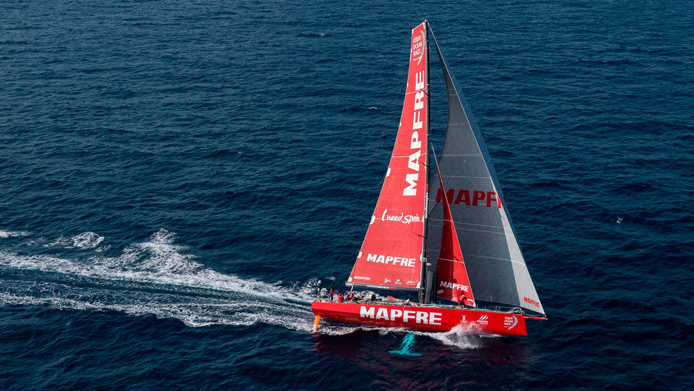 El Mapfre, durante la última edición de la vuelta al mundo. |...