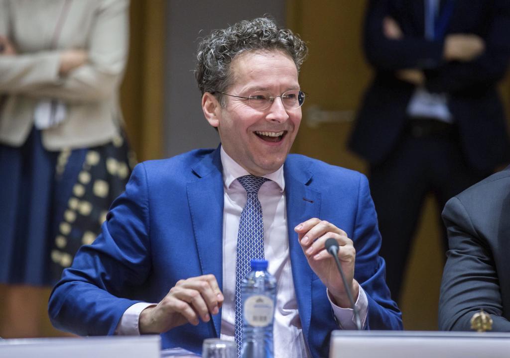 El presidente del Eurogrupo, el holandés Jeroen Dijsselbloem durante...